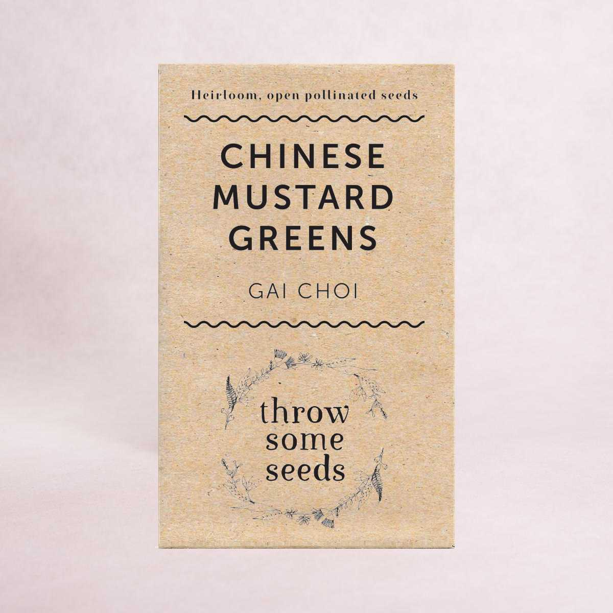 Chinese Mustard Greens (Gai Choi) Seeds - Seeds - Throw Some Seeds - Australian gardening gifts and eco products online!