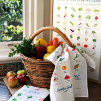 Tea Towel - Veggie & Herb Planting Guide (Temperate Victoria) | by Garden Girl