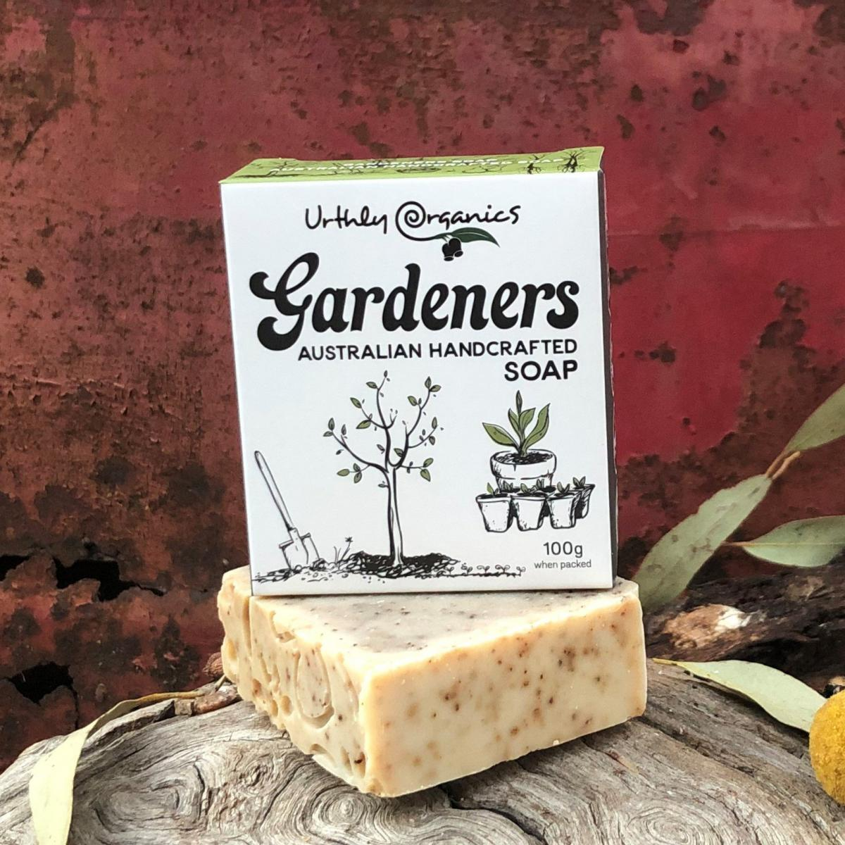 Gardeners Soap Bar - Urthly Organics - Bar Soap - Throw Some Seeds - Australian gardening gifts and eco products online!