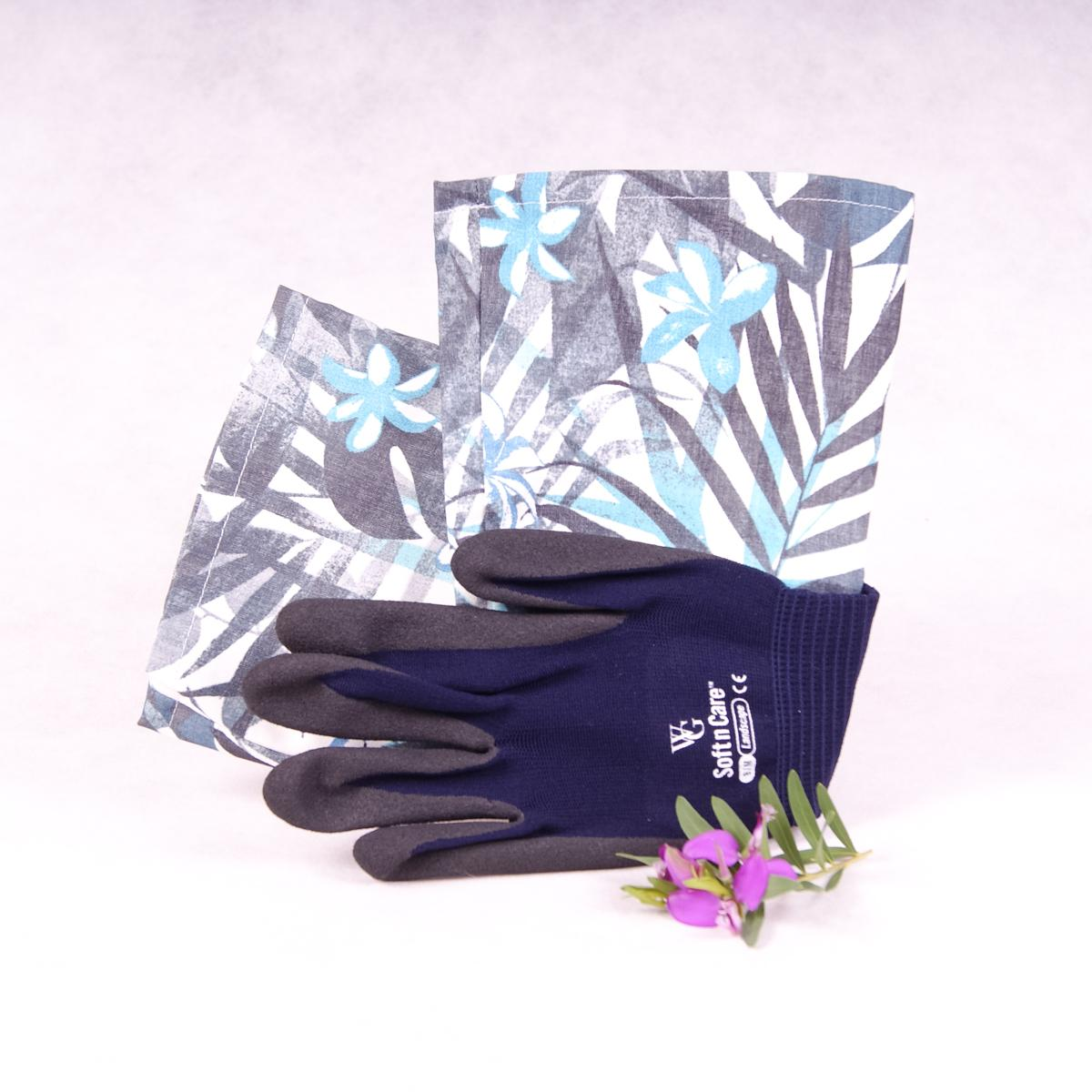 Long sleeve gardening gloves - Tropical Blue - Gloves - Throw Some Seeds - Australian gardening gifts and eco products online!