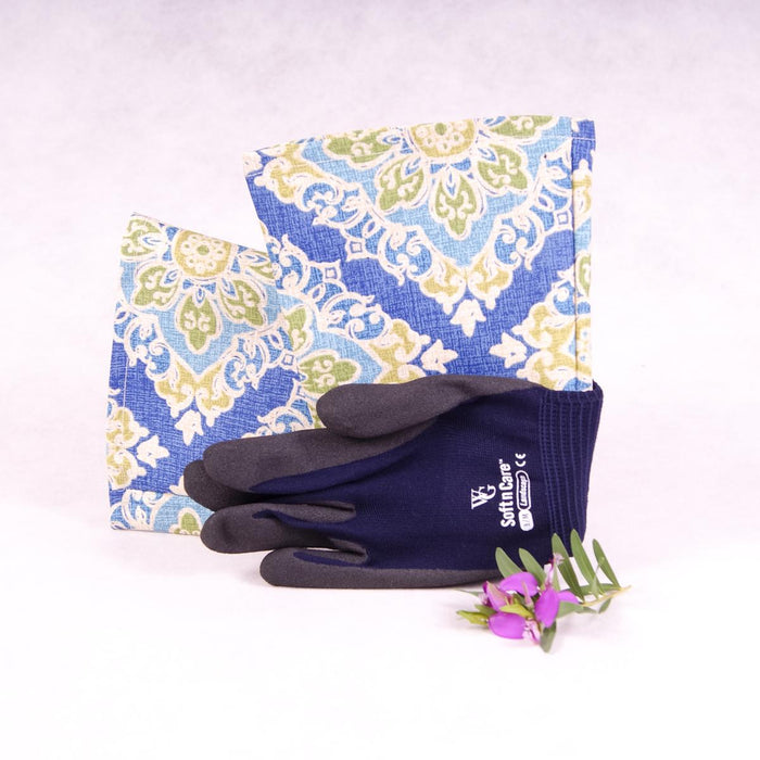 Long sleeve gardening gloves - Gypsy Blue - Gloves - Throw Some Seeds - Australian gardening gifts and eco products online!