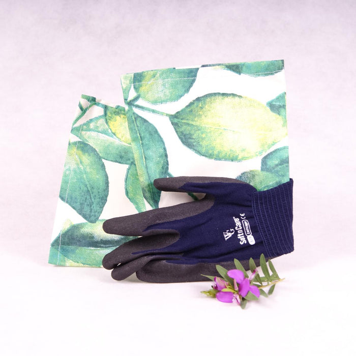 Long sleeve gardening gloves - Green Leaves - Gloves - Throw Some Seeds