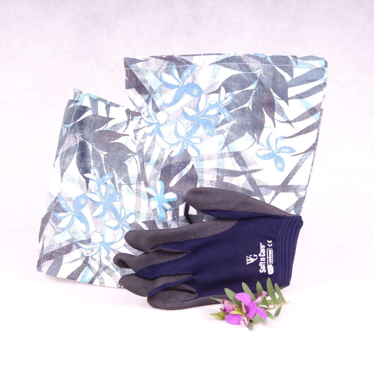 Long sleeve gardening gloves (Large) - Tropical Blue - Gloves - Throw Some Seeds - Australian gardening gifts and eco products online!