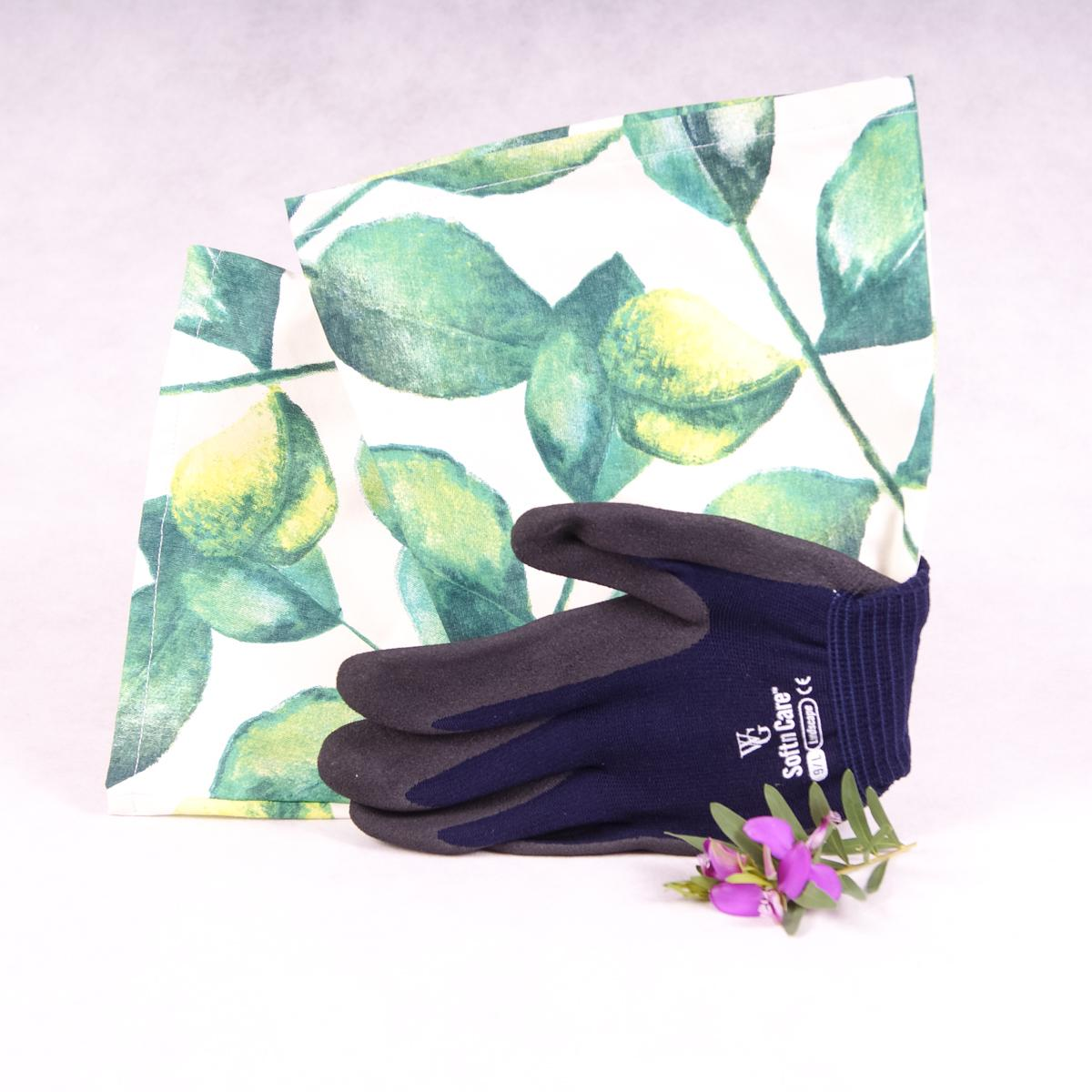 Long sleeve gardening gloves (Large) - Green Leaves - Gloves - Throw Some Seeds - Australian gardening gifts and eco products online!