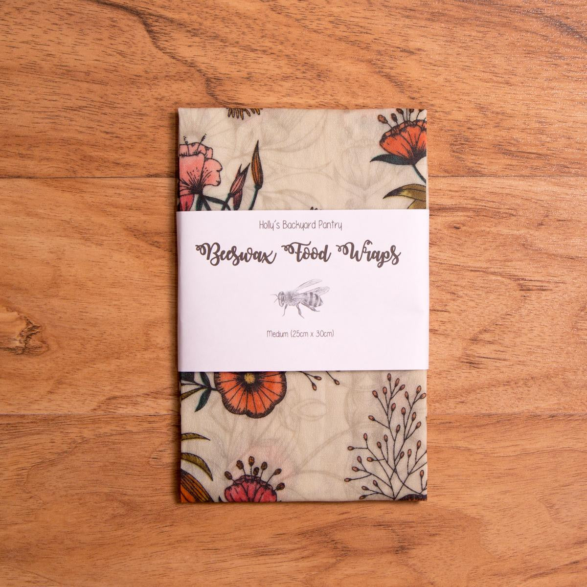 Beeswax Reusable Food Wrap - Medium - Beeswax Wrap - Throw Some Seeds - Australian gardening gifts and eco products online!