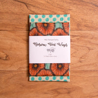 Beeswax Food Wrap - 2 Pack Medium - Beeswax Wrap - Throw Some Seeds