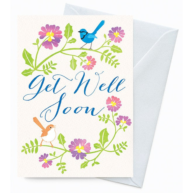 Happy Nature Card - Get Well Wrens - Cards - Throw Some Seeds - Australian gardening gifts and eco products online!