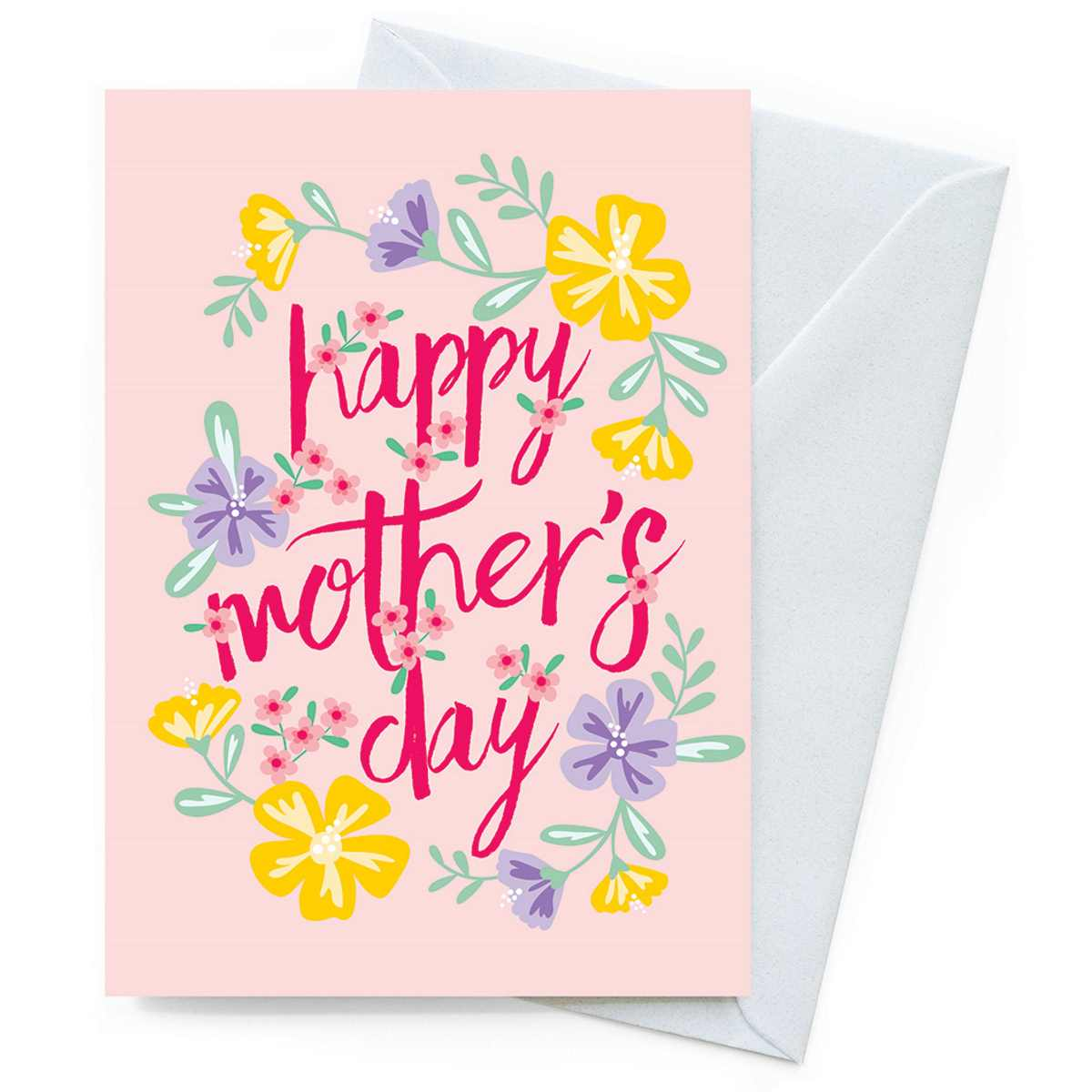 Happy Nature Card – Mothers Day Hibiscus - Card - Throw Some Seeds - Australian gardening gifts and eco products online!