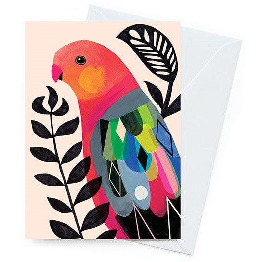 Inaluxe Card – King Parrot - Card - Throw Some Seeds