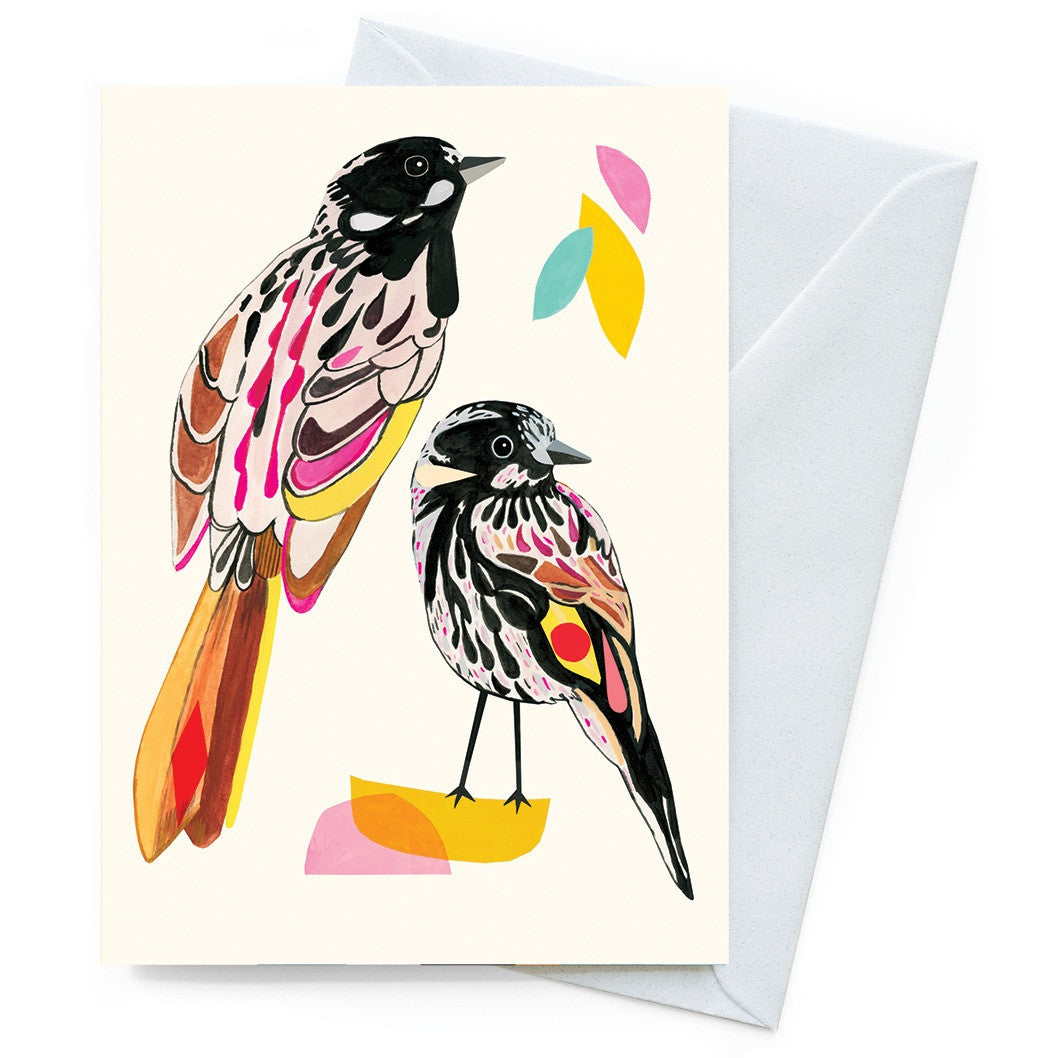 Inaluxe Card – New Holland Honeyeaters - Card - Throw Some Seeds - Australian gardening gifts and eco products online!