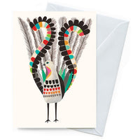 Greeting Card – Superb Lyrebird - Card - Throw Some Seeds - Australian gardening gifts and eco products online!
