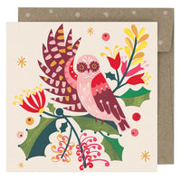 Boxed Christmas Cards 'Owl & Mistletoe' - Pack of 8 - Card - Throw Some Seeds - Australian gardening gifts and eco products online!