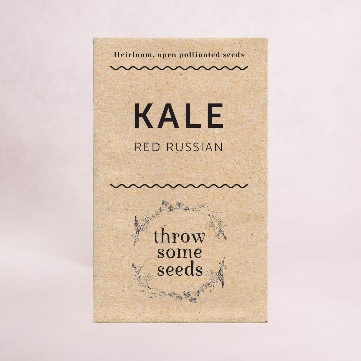 Kale (Red Russian) Seeds - Seeds - Throw Some Seeds - Australian gardening gifts and eco products online!