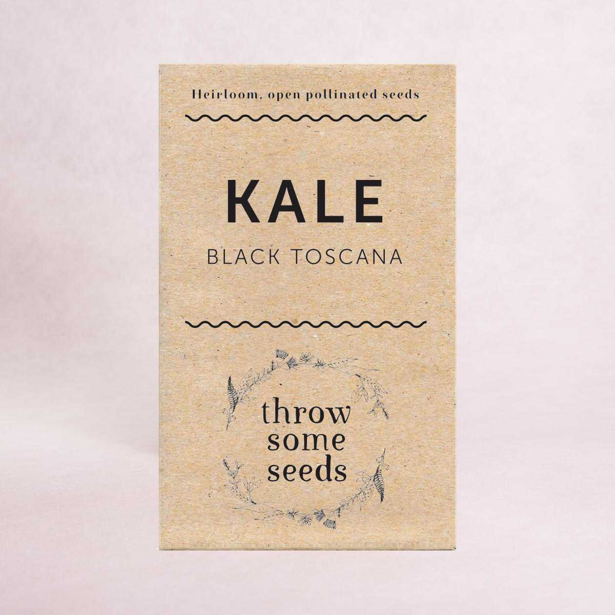 Kale (Black Toscana) Seeds - Seeds - Throw Some Seeds - Australian gardening gifts and eco products online!