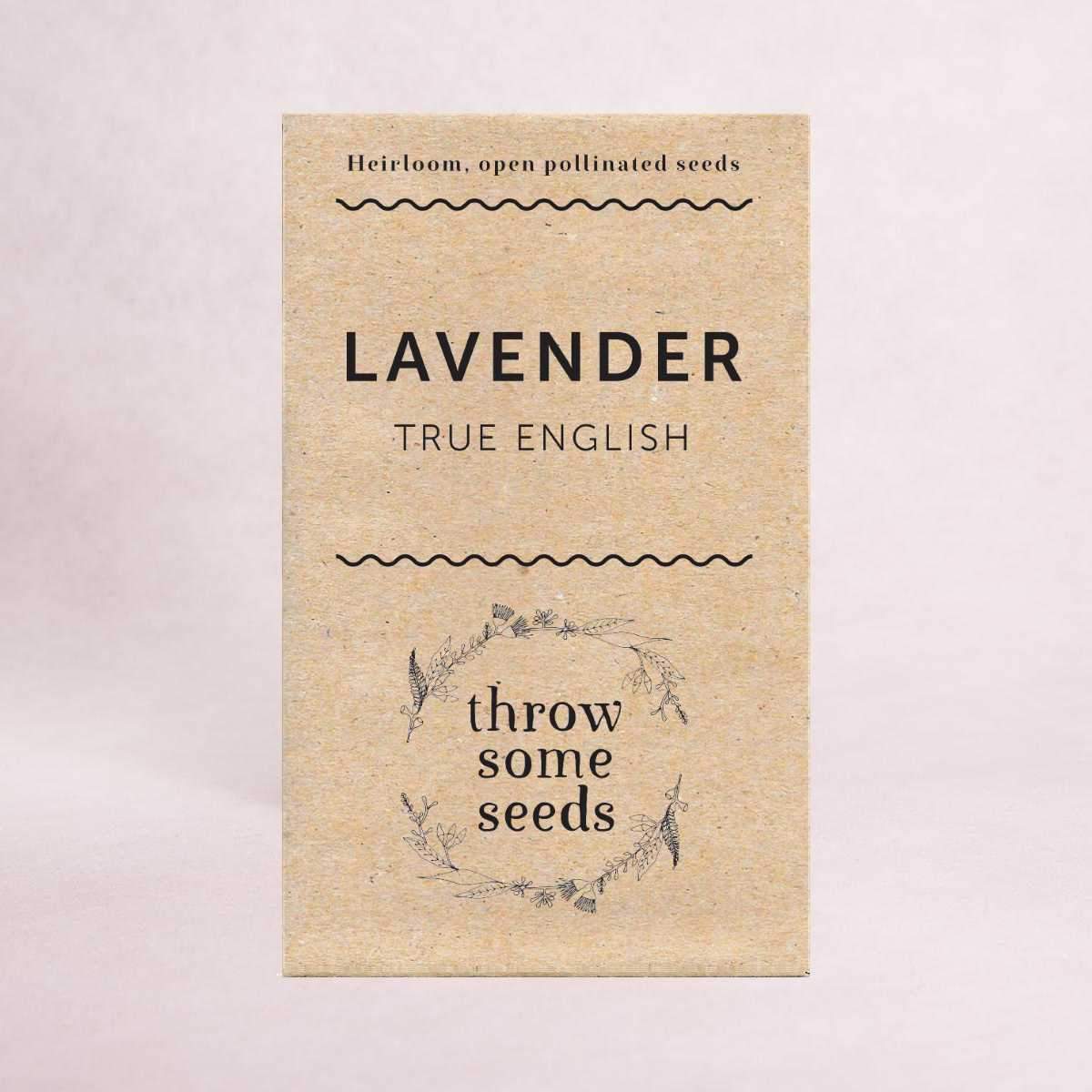 Lavender (True English) Seeds - Seeds - Throw Some Seeds - Australian gardening gifts and eco products online!