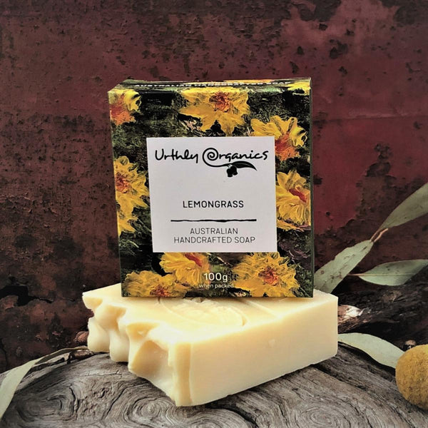 Lemongrass Soap Bar - Urthly Organics - Bar Soap - Throw Some Seeds - Australian gardening gifts and eco products online!