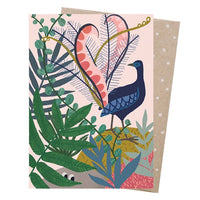 Meeri Anneli Card – Lyrebird's Serenade - Card - Throw Some Seeds - Australian gardening gifts and eco products online!
