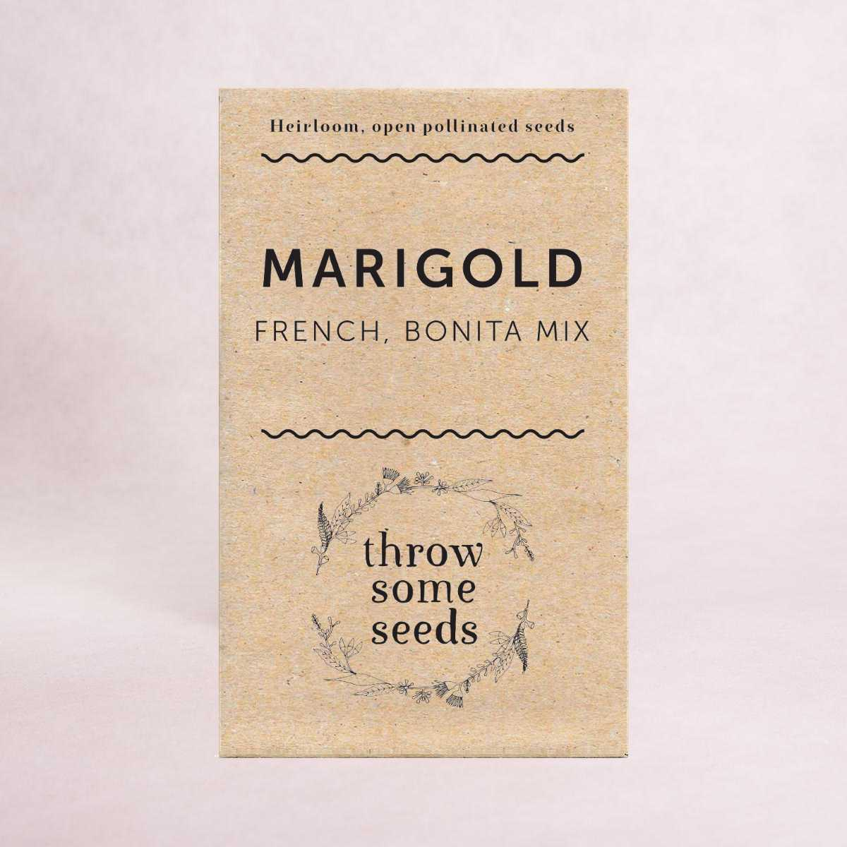 Marigold (French, Bonita Mix) Seeds - Seeds - Throw Some Seeds - Australian gardening gifts and eco products online!