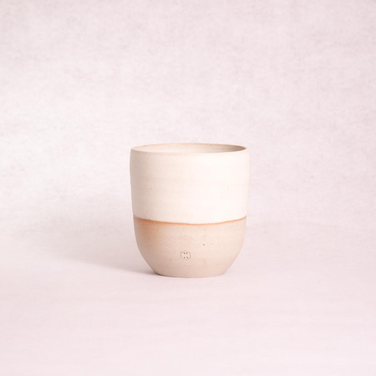 Ceramic Planter Pot - Medium (Matte White Dip) - Ceramic Planter - Throw Some Seeds - Australian gardening gifts and eco products online!