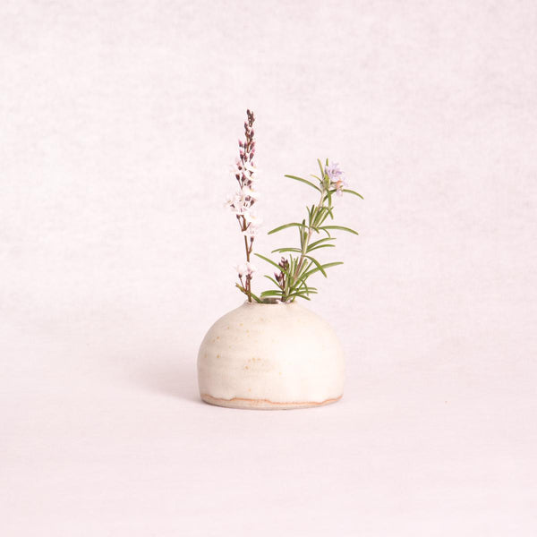 Ceramic Urchin Vase - Small (Matte White) - Vase - Throw Some Seeds - Australian gardening gifts and eco products online!