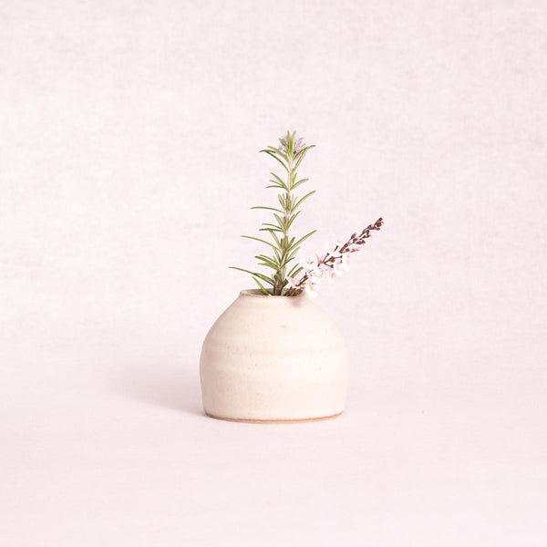 Ceramic Urchin Vase - Medium (Matte White) - Vase - Throw Some Seeds - Australian gardening gifts and eco products online!