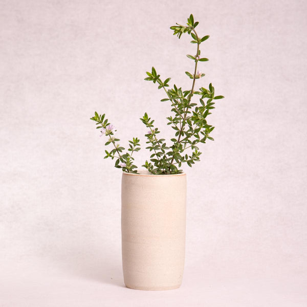 Ceramic Vase - Tall (Natural Clay) - Vase - Throw Some Seeds - Australian gardening gifts and eco products online!