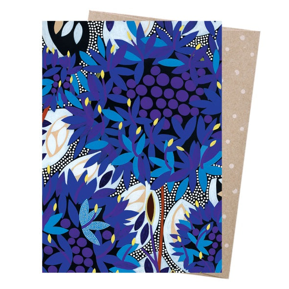 Greeting Card – Native Blue Cornflower - Card - Throw Some Seeds - Australian gardening gifts and eco products online!