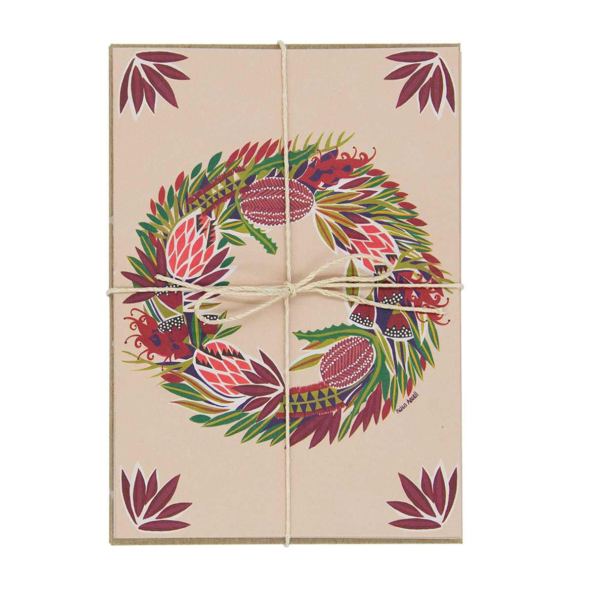 Native Wreath Christmas Cards – Set of 10 - Card - Throw Some Seeds - Australian gardening gifts and eco products online!