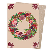 Christmas Card – Native Wreath - Card - Throw Some Seeds - Australian gardening gifts and eco products online!