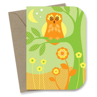 My Earth 'Happy Birthday' Card – Twilight Owl - Card - Throw Some Seeds - Australian gardening gifts and eco products online!