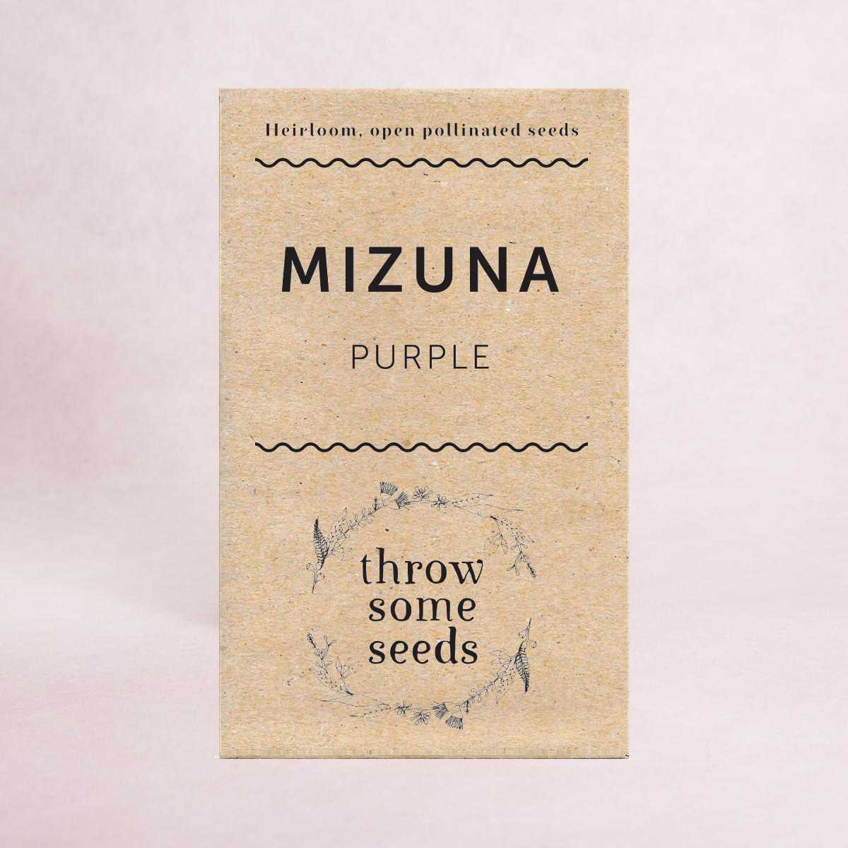 Mizuna (Purple) Seeds - Seeds - Throw Some Seeds - Australian gardening gifts and eco products online!