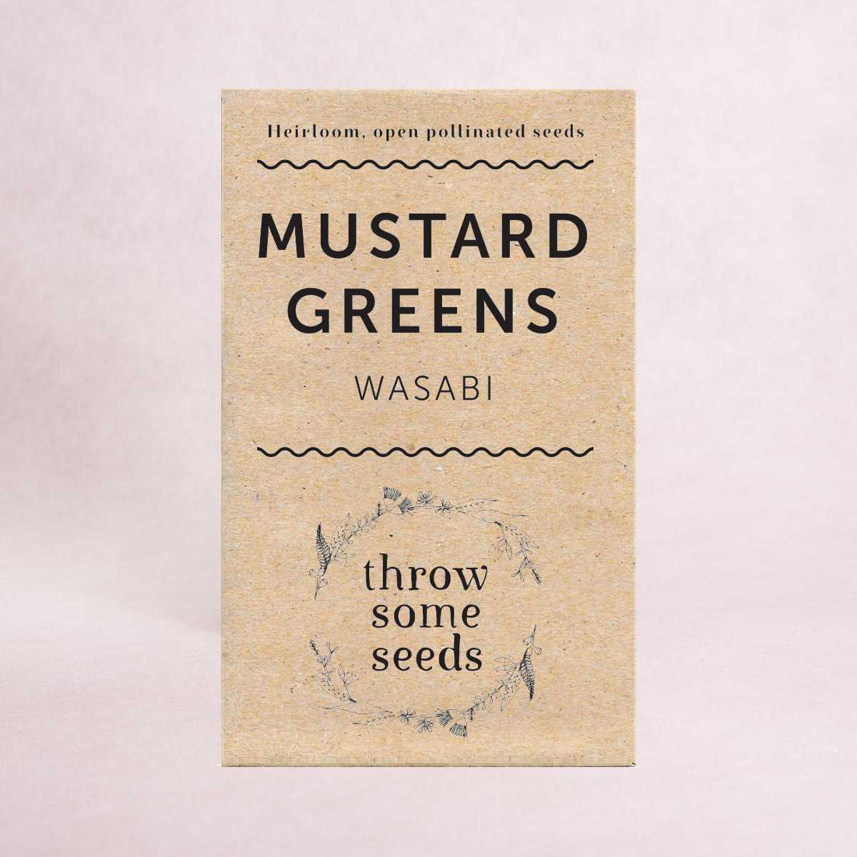 Mustard Greens (Wasabi) Seeds - Seeds - Throw Some Seeds - Australian gardening gifts and eco products online!