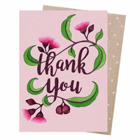 Negin Maddock Card – Thank You Blossom - Card - Throw Some Seeds - Australian gardening gifts and eco products online!