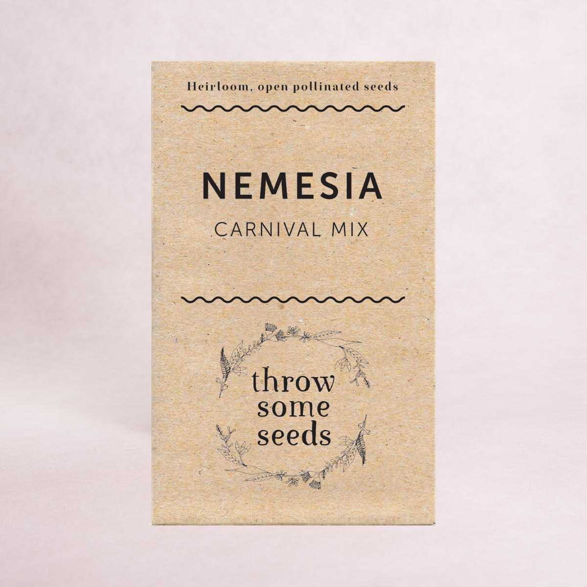Nemesia (Carnival Mix) Seeds - Seeds - Throw Some Seeds - Australian gardening gifts and eco products online!