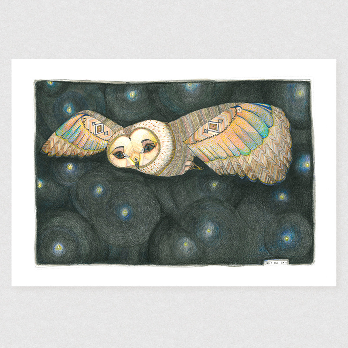 Night Owl - Limited Edition Print | by Natalie Martin - Unframed Prints - Throw Some Seeds - Australian gardening gifts and eco products online!