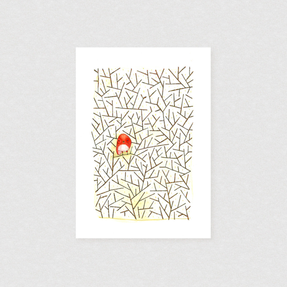 Lonely Guy - Limited Edition Print | by Natalie Martin - Unframed Prints - Throw Some Seeds - Australian gardening gifts and eco products online!