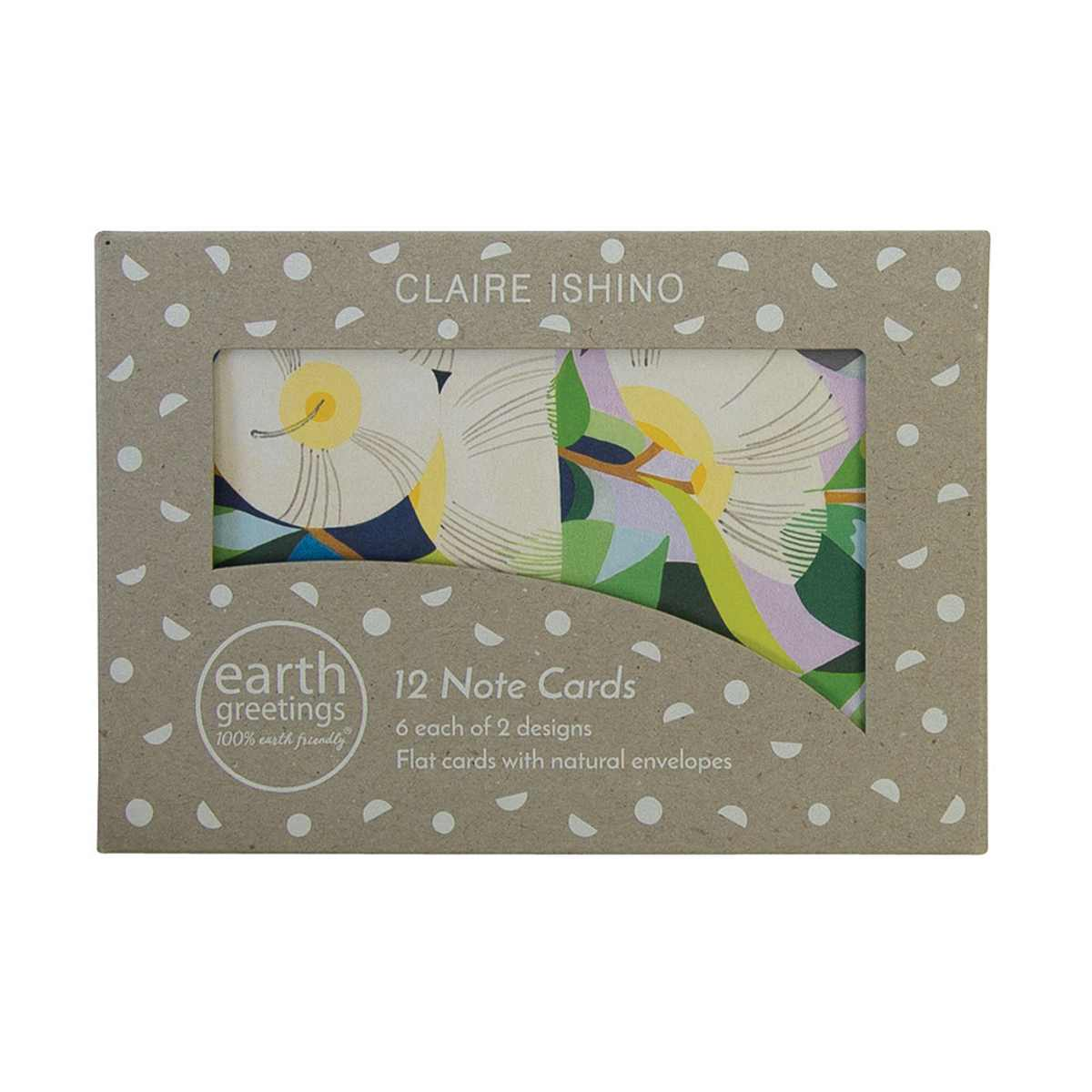 Box of 12 Note Cards – Moonlit Gum - Note Cards Boxed - Throw Some Seeds - Australian gardening gifts and eco products online!
