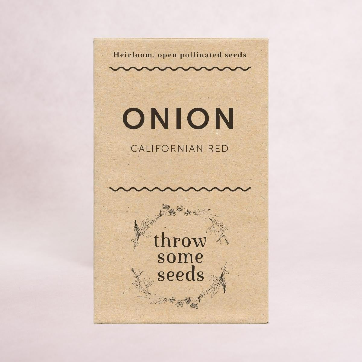 Onion (Californian Red) - Heirloom Seeds - Throw Some Seeds