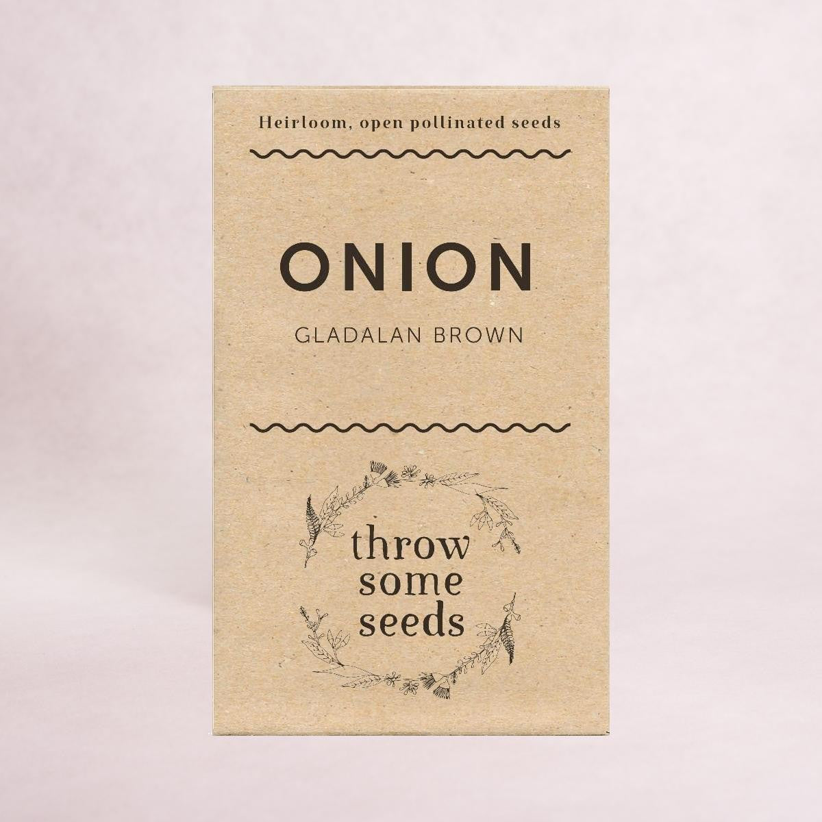 Onion (Gladalan Brown) Seeds - Seeds - Throw Some Seeds - Australian gardening gifts and eco products online!