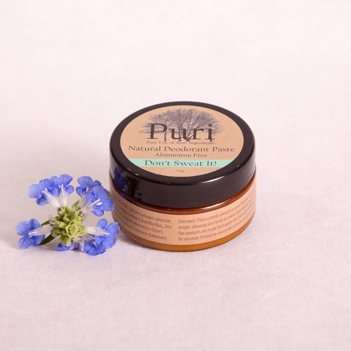 'Don't Sweat It' Natural Deodorant Paste - 50gm - Deodorant - Throw Some Seeds - Nature Inspired Gifts for the Home & Garden