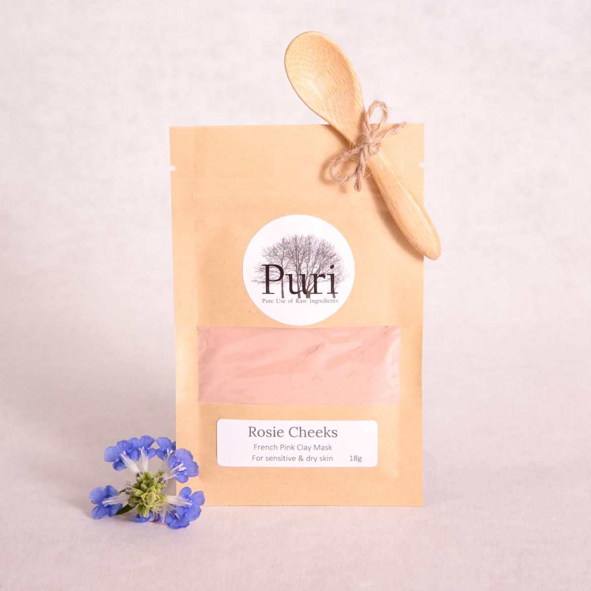 'Rosie Cheeks' French Pink Clay Mask - 18g - Clay Mask - Throw Some Seeds - Australian gardening gifts and eco products online!