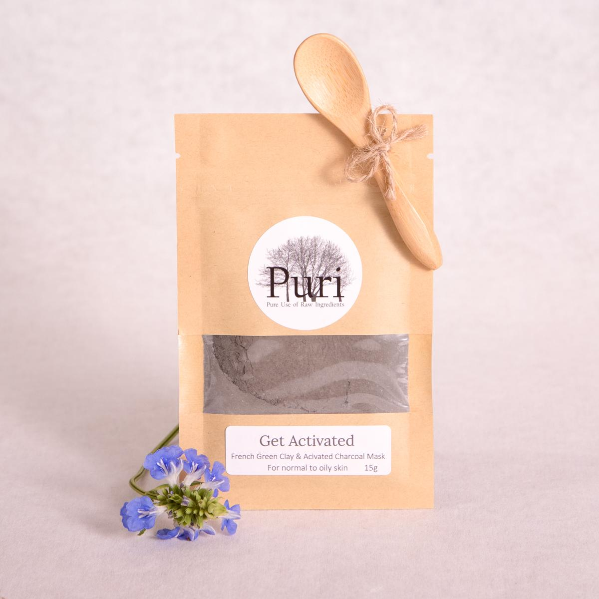 'Get Activated' French Green Clay & Activated Charcoal Mask - 15g - Clay Mask - Throw Some Seeds - Nature Inspired Gifts for the Home & Garden
