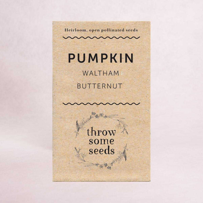 Pumpkin (Waltham Butternut) - Heirloom Seeds - Seeds - Throw Some Seeds