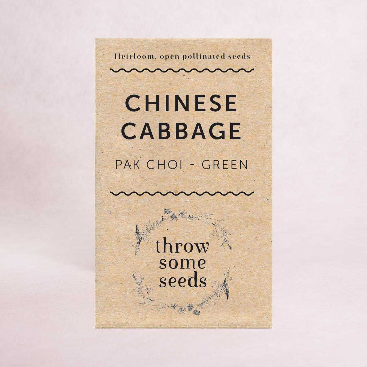 Chinese Cabbage (Pak Choi - Green) Seeds - Seeds - Throw Some Seeds - Australian gardening gifts and eco products online!