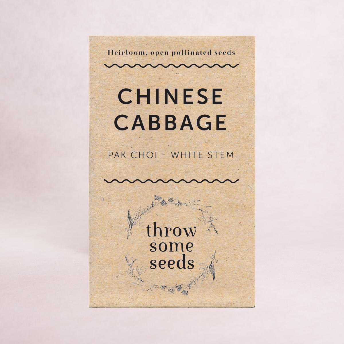 Chinese Cabbage (Pak Choi - White Stem) Seeds - Seeds - Throw Some Seeds - Australian gardening gifts and eco products online!