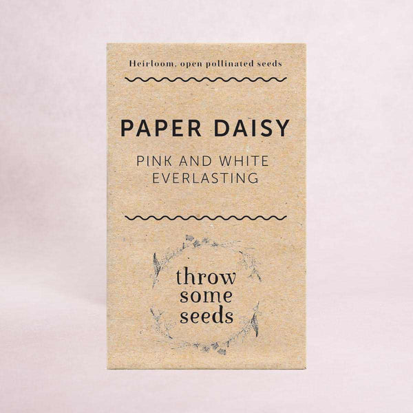 Paper Daisy (Pink and White Everlasting) Seeds - Seeds - Throw Some Seeds - Australian gardening gifts and eco products online!