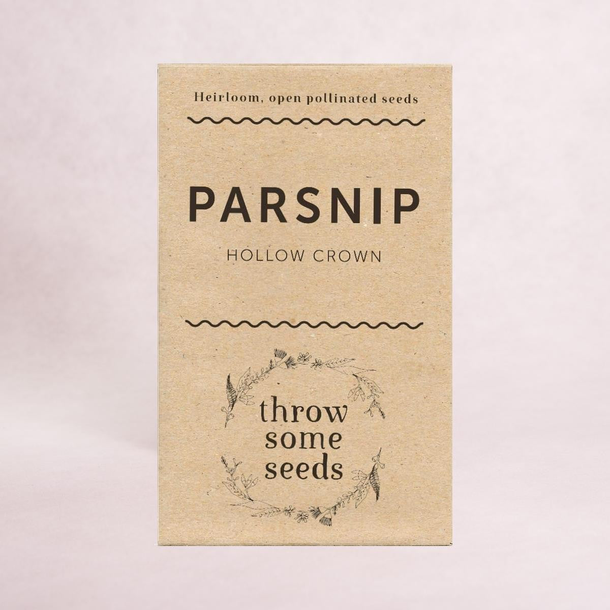 Parsnip (Hollow Crown) - Heirloom Seeds - Throw Some Seeds
