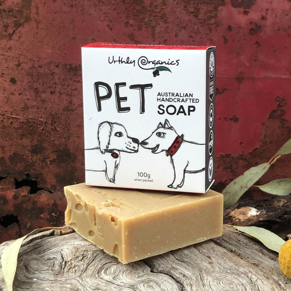 Pet Soap Bar - Urthly Organics - Pet Soap Bar - Throw Some Seeds - Australian gardening gifts and eco products online!