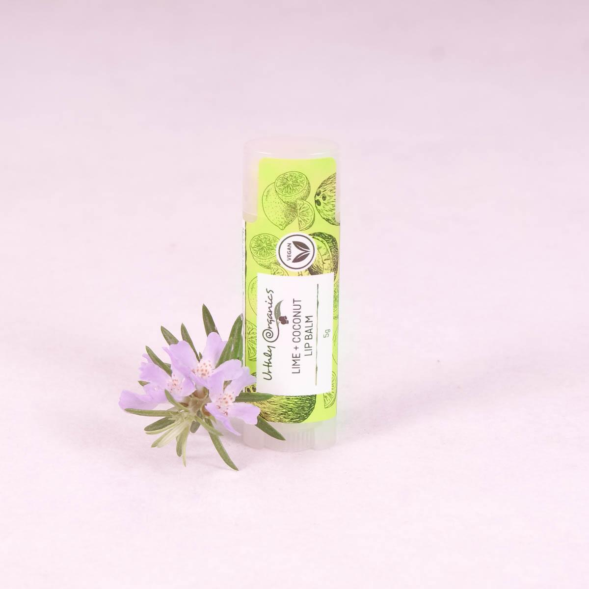 Lime and Coconut Lip Balm 5g - Urthly Organics