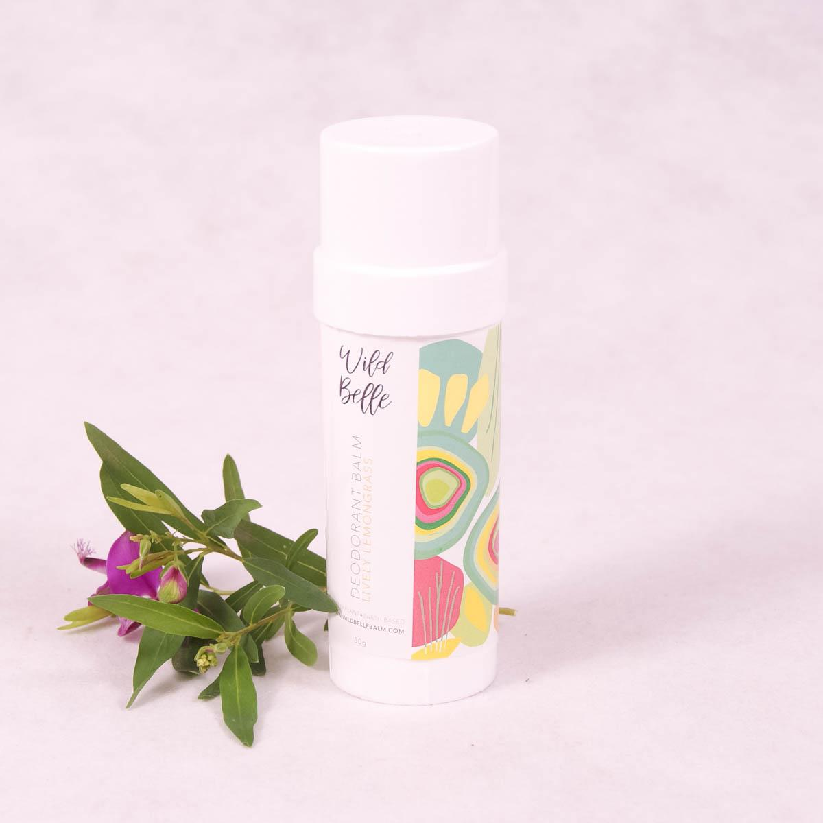 Lively Lemongrass Natural Deodorant Balm - 80g Twist Tube - Deodorant - Throw Some Seeds - Australian gardening gifts and eco products online!